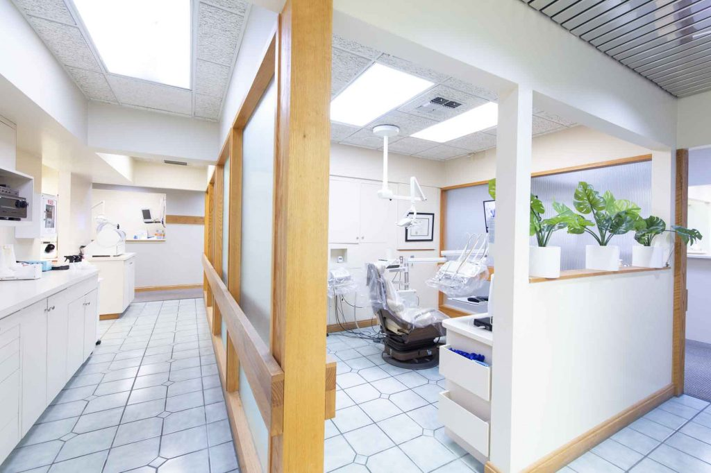 dental patient room at bloom dental, a dentist office in bloomington indiana